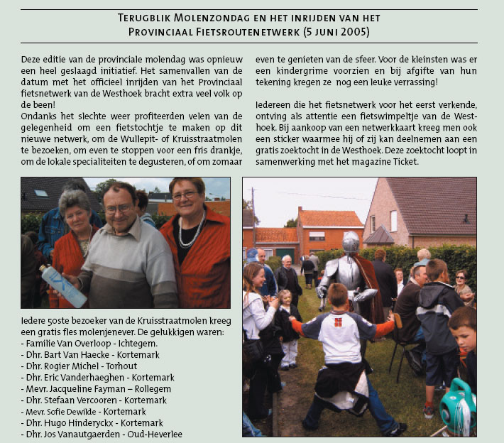 Jos Vanautgaerden en Goedelieve Janssens op bezoek in de Kruisstraatmolen in Kortemark