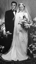 huwelijksfoto van Georges en Rosa in 1954
