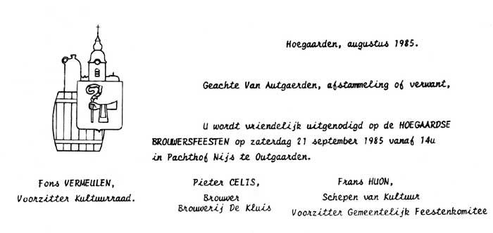 uitnodiging 1985